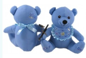 Autograph Teddy Bear: Newborn Baby Boy