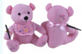 Autograph Teddy Bear: Newborn Baby Girl