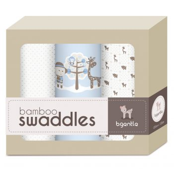 3 Pack Large Bamboo Swaddle Baby Blue
