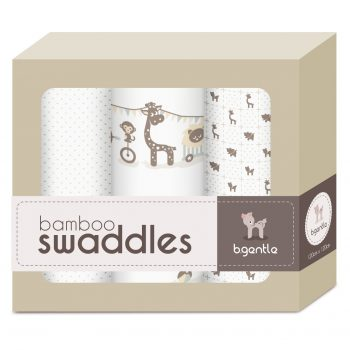 3 Pack Large Bamboo Swaddle Baby White