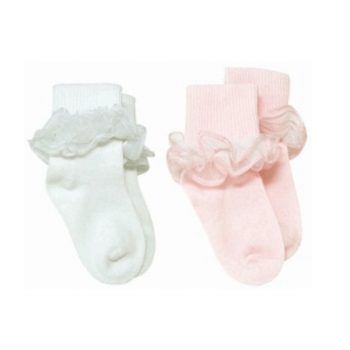 2pk Girls Dress Socks