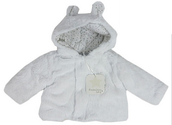 Baby Unisex Fleece Jacket – White