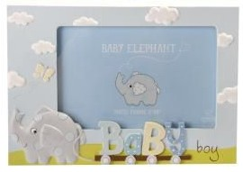 Baby Elephant Photo Frame – Baby Boy