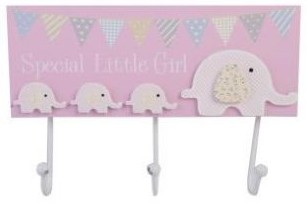 Baby Elephant Clothes Hooks – Baby Girl