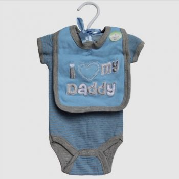 Baby Bib & Bodysuit set – I Love my Daddy