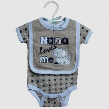 Baby Bib & Bodysuit set – Nana loves me