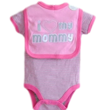 Baby Bib & Bodysuit set – I Love my Mommy
