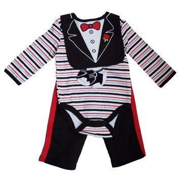 Boys Long Sleeve 4 Piece Bodysuit & Pants set – Bow Tie