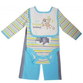 Boys Long Sleeve 4 Piece Bodysuit set – Hanging Around
