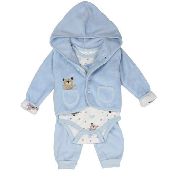 Boys 3PC Plush Jacket Set