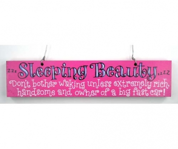 Door Sign –  Sleeping Beauty