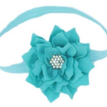 Lotus Flower Headband – Aqua