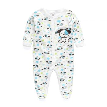 Boys Puppy Footed Jumpsuit – Blue