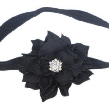 Lotus Flower Headband – Black