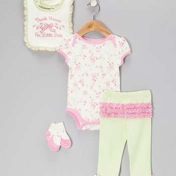 Girls Long Sleeve 4 Piece Bodysuit set – Thank Heaven