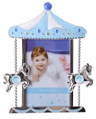 Carousel Photo Frame Blue and Silver
