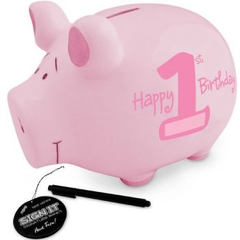 First Birthday Signature Piggy Bank