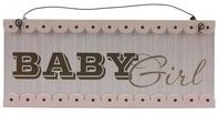 Baby Nursery Hanging Plaque – Baby Girl (Pink)