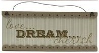 Baby Nursery Hanging Plaque – Love, Dream, Cherish