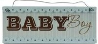 Baby Nursery Hanging Plaque – Baby Boy (Blue)
