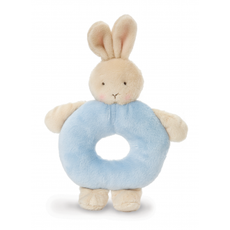 Bunny Rattle Ring – Blue