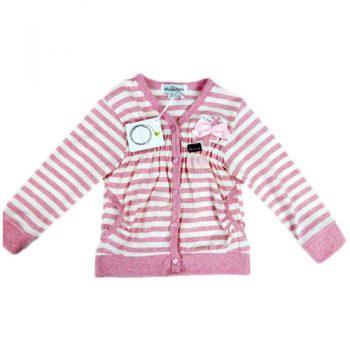 Jelly Bean Pink Stripe Cardigan