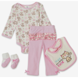 Girls Long Sleeve 4 Piece Bodysuit set – Purfectly Cute
