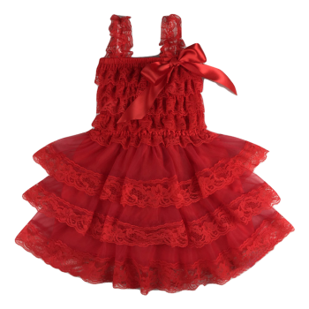 Lace Dress Spaghetti Strap –  Red