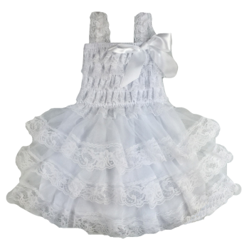 Lace Dress Spaghetti Strap – White