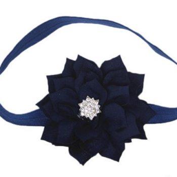 Lotus Flower Headband – Navy Blue