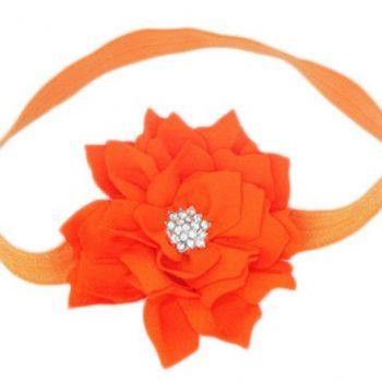 Lotus Flower Headband – Orange