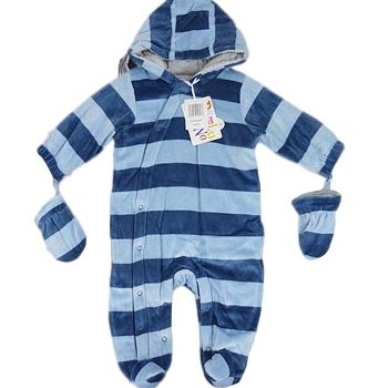 Hooded Snowsuit with Mittens – Blue