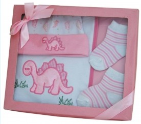 Gift Set – Baby Girl Dinosaur