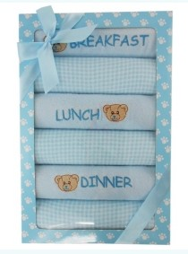 Gift Set – 6 Meal Bib Blue