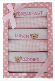 Gift Set – 6 Meal Bib Pink