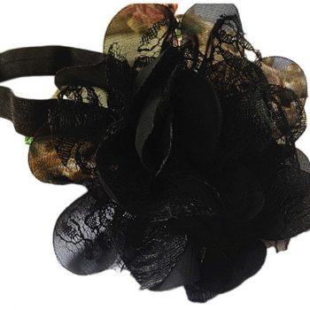 Chiffon Lace headband – Black