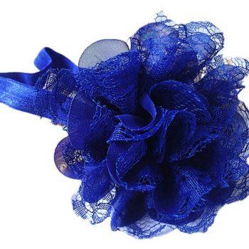 Chiffon Lace headband – Royal Blue
