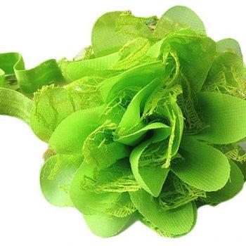 Chiffon Lace headband – Green