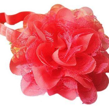 Chiffon Lace headband – Peach