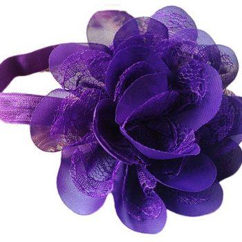 Chiffon Lace headband – Purple