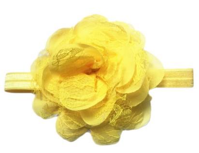 Chiffon Lace headband – Yellow