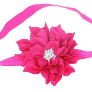 Lotus Flower Headband – Hot Pink