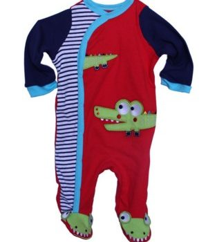 Boys Footed Jumpsuit – Alligator