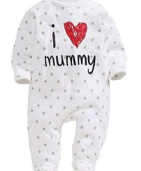 Footed Baby Jumpsuit  – I Love Mummy