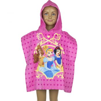 Disney Princess Hooded Towel – Pink