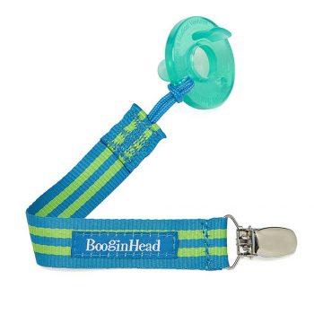 BooginHead PaciGrip – Blue Green Stripe