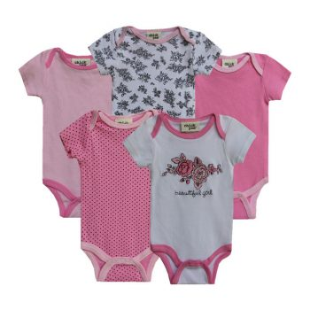 Bodysuits 5pk Watch me grow – Beautiful Girl