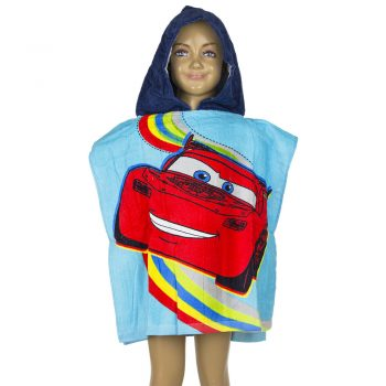 Cars Hooded Towel – Blue