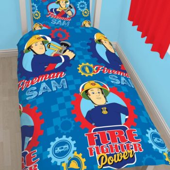Fireman Sam Quilt Cover Set – Single