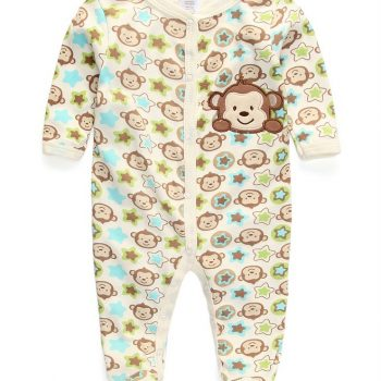 Boys Monkey Footed Jumpsuit – Brown